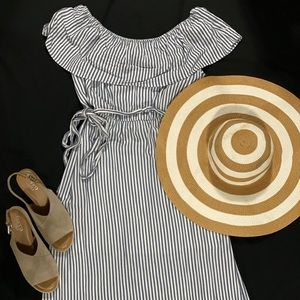 Maurices Striped off the shoulder Maxi Dress